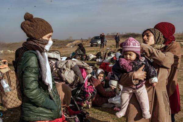 Edirne'de bekleyen mülteciler
