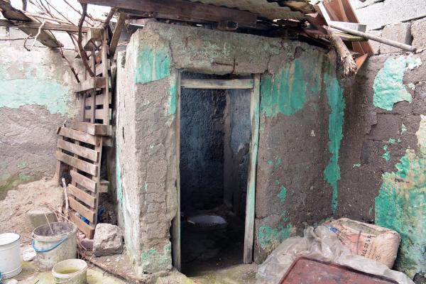 Evin dışındaki tuvalet