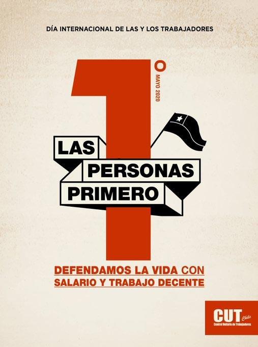 Şili'den 1 Mayıs afişi.