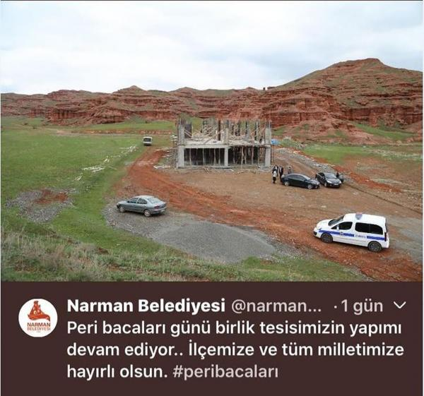 Erzurum'daki Narman Kanyonu