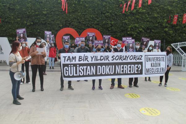 Gülistan Doku için Adana'da yapılan eylem
