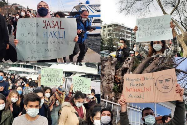 Boğaziçi üniversitesi öğrencileri dövizleri ile
