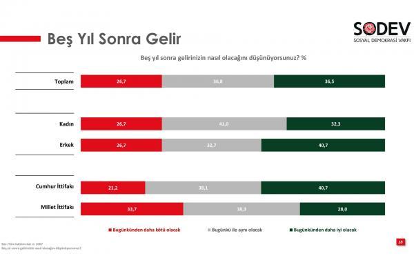 SODEV'in 'Gençlik Araştırması Raporu'ndan alınan grafik.