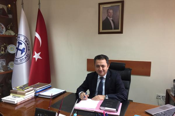 TMMOB Maden Mühendisleri Odası Yönetim Kurulu Başkanı Ayhan Yüksel