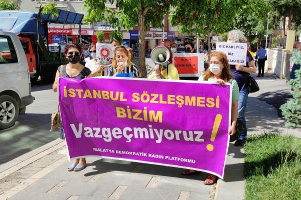 Malatya Demokratik Kadın Platformu açıklama yaptı