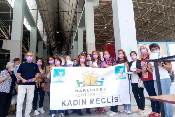 Narlıdere'de kadınlardan İstanbul Sözleşmesi eylemine çağrı