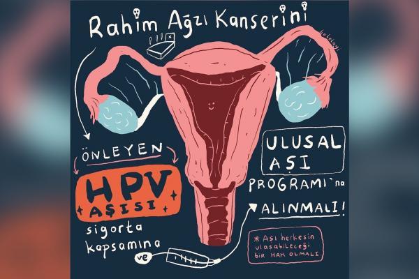 HPV aşısıyla ilgili illüstrasyon