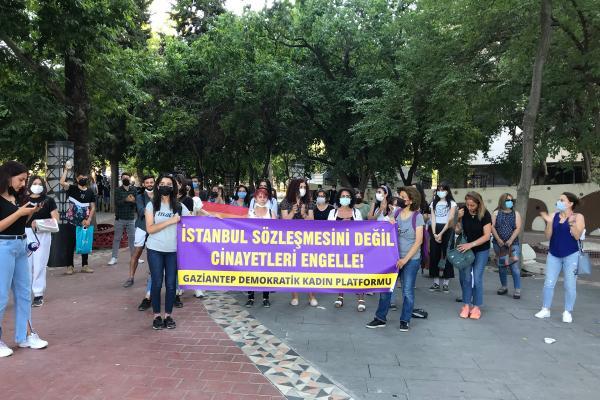 Kadınların Antep'teki eylemi