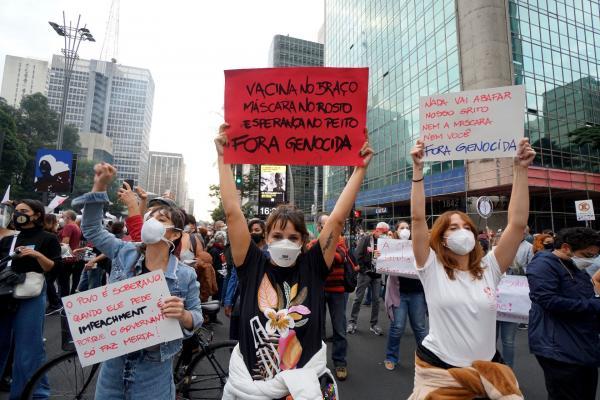 Brezilya'da Kovid-19'dan ölümler yarım milyonu geçti, yüz binler sokağa çıktı