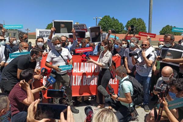 İstanbul'da gazetecilerin eylemi