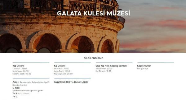 Galata Kulesi'nin giriş ücreti 30 TL'den 100 TL'ye çıktı