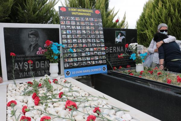 10 Ekim'de hayatını kaybedenlerin İzmir'deki mezarları