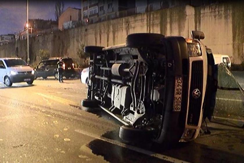Bayrampaşa'da kaza: 4 kişi yaralandı