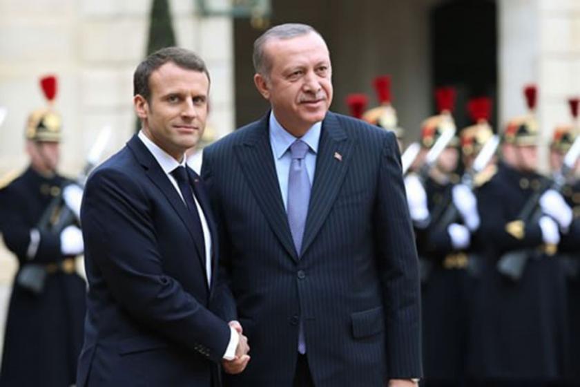 Cumhurbaşkanı Erdoğan, Fransa'da Macron'la görüştü