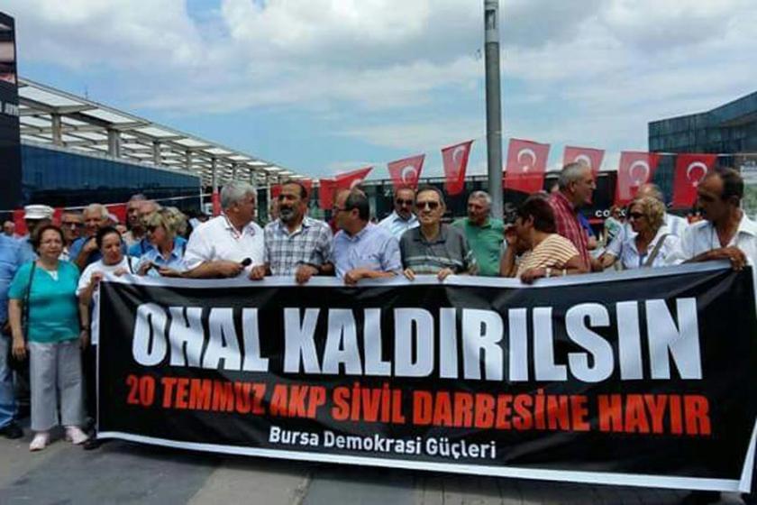 Bursa Demokrasi Güçleri OHAL kaldırılsın kampanyası başlattı