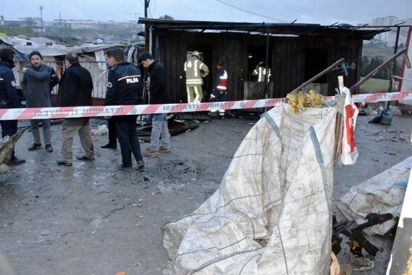 Kağıt toplayıcıların konteynerinde yangın çıktı: 3 kişi öldü