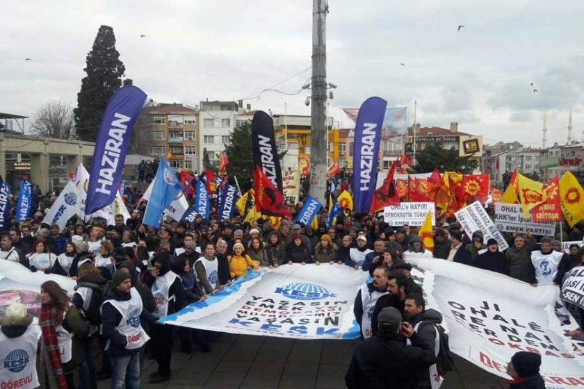 KESK'ten İstanbul'da 'OHAL değil demokrasi' mitingi