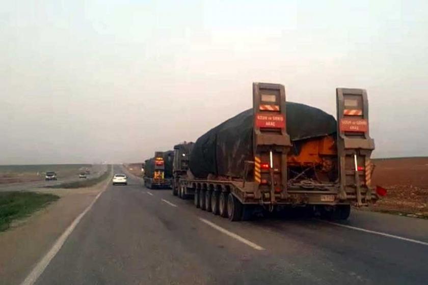 Silopi'den Afrin sınırına askeri sevkiyat