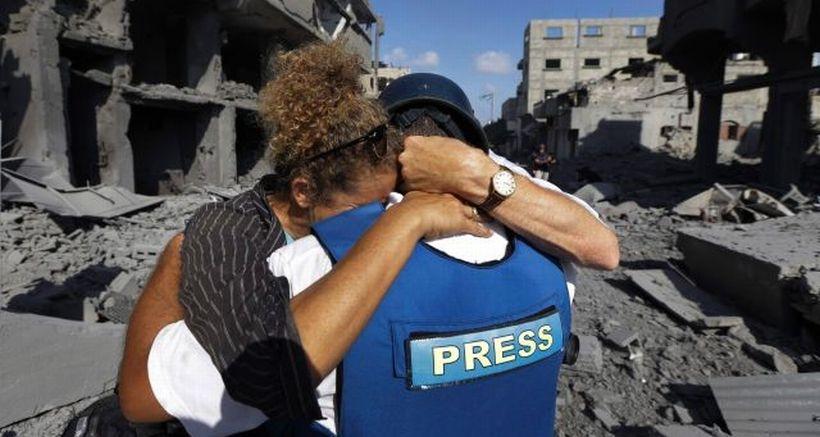 Filistinli gazeteciler  'üçlü tehlike' altında
