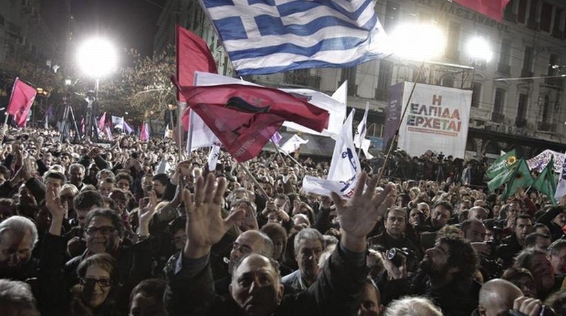 Yunan halkının SYRIZA'ya desteği arttı