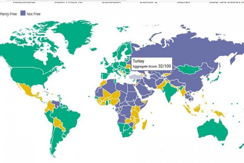 Freedom House: Türkiye'yi özgür olmayan ülkeler arasında