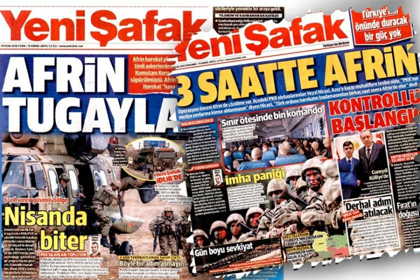 Yeni Şafak'ın Afrin freni: 3 saatte alınacaktı 3 ay oldu