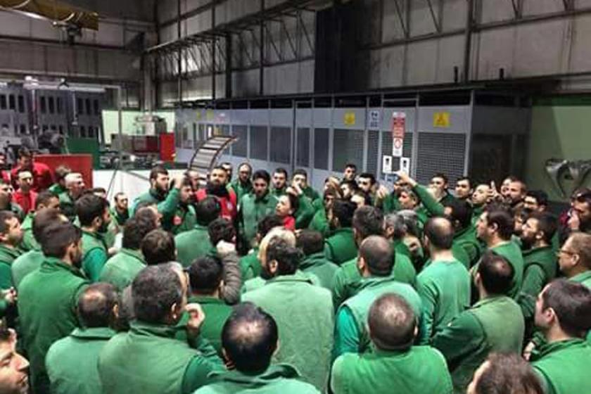 Birleşik Metal üretimi 1 saat durdurarak grev kararını astı