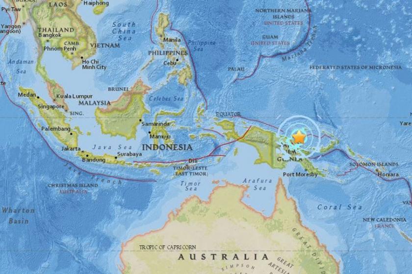 Papua Yeni Gine'de 6.3 büyüklüğünde deprem