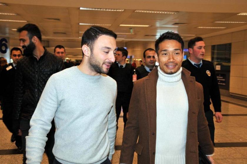 Nagatomo, Galatasaray için İstanbul'a geldi
