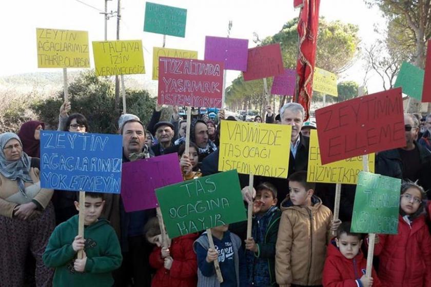 Tekkedere halkı kalker ocağı ÇED toplantısına izin vermedi