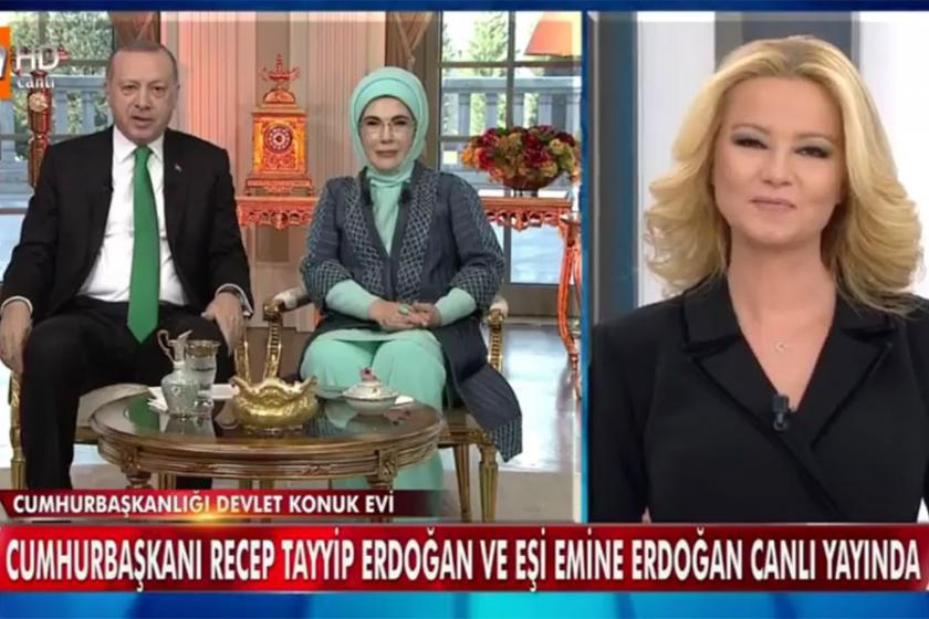 Erdoğan çifti Müge Anlı'ya konuk oldu