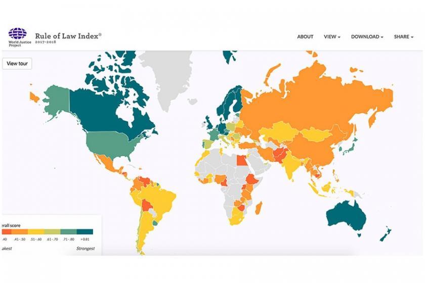 Dünya Adalet Projesi: Türkiye'de hukukun üstünlüğü geriledi