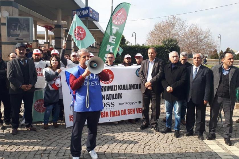 TEKSİF üyesi işçilerin sendikalaşma mücadelesi sürüyor