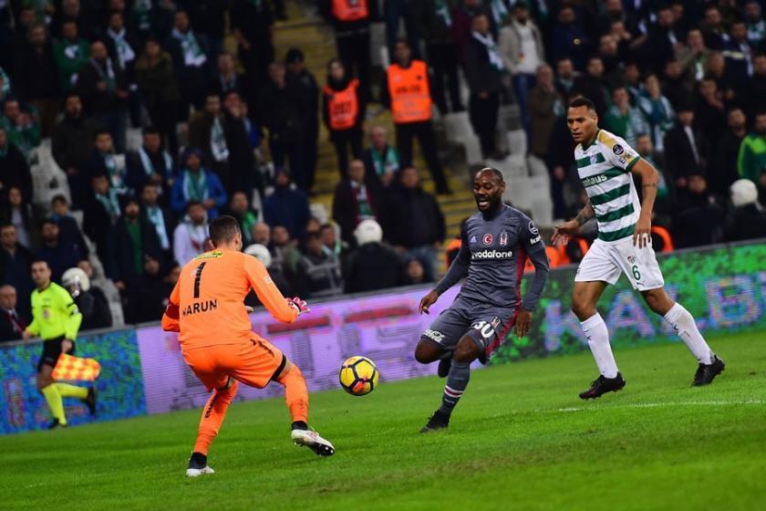 Bursaspor ile Beşiktaş 2-2 berabere kaldı