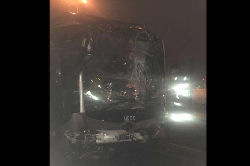 Haramidere'de metrobüs kazası: 24 yaralı