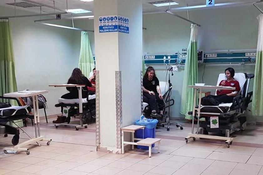 Boya kokusu nedeniyle 8 öğrenci hastaneye kaldırıldı