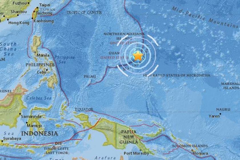 ABD'nin Guam Adası yakınlarında 6.0 büyüklüğünde deprem