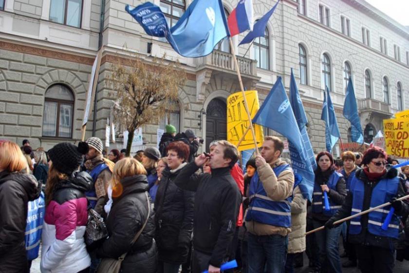 Slovenya'da öğretmenler grevde