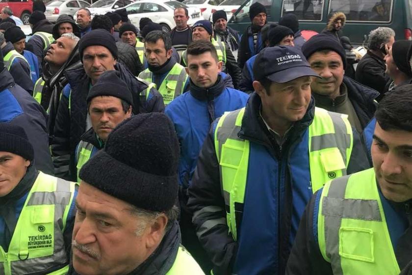 Tekirdağ belediyesi işçileri sözleşme açıklaması bekliyor