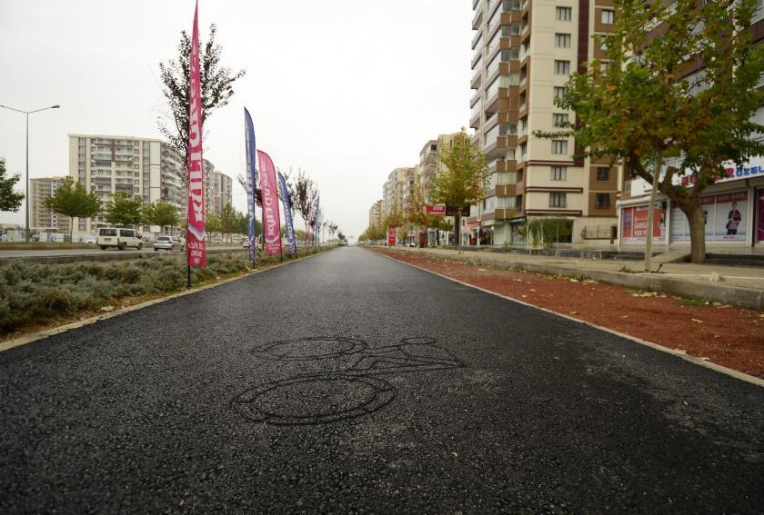 Diyarbakır'da bisiklet yolu tamamlanmak üzere