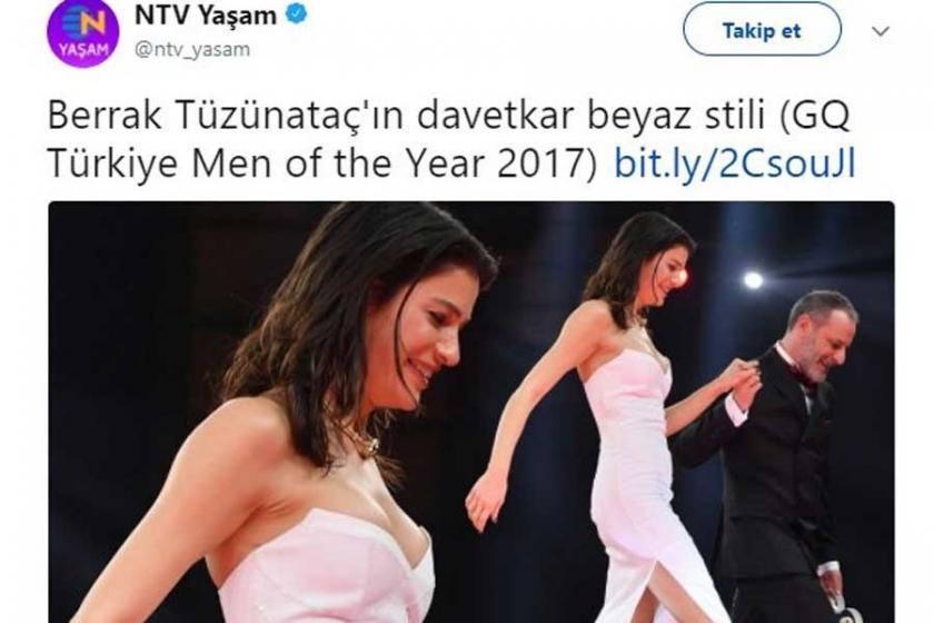NTV'den Oyuncu Berrak Tüzünataç'a 'davetkâr' özrü