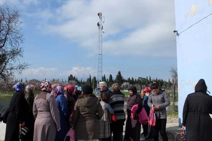 Okul yakınına baz istasyonu kurulmasına tepki