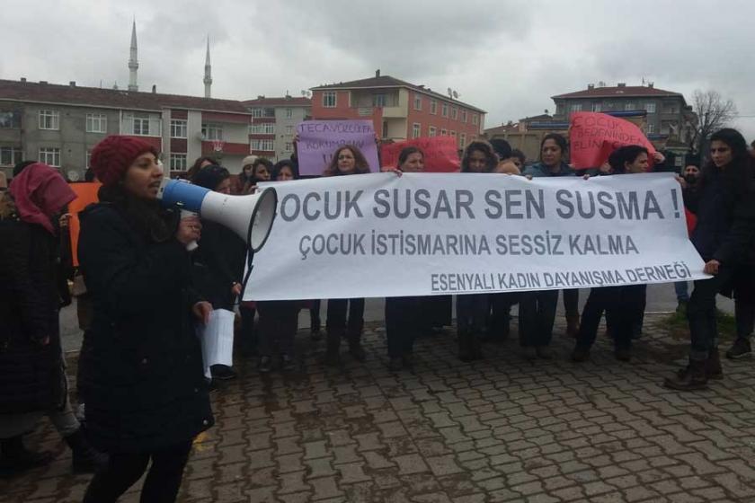 Esenyalı'da kadınlardan 'çocuk istismarı' tepkisi
