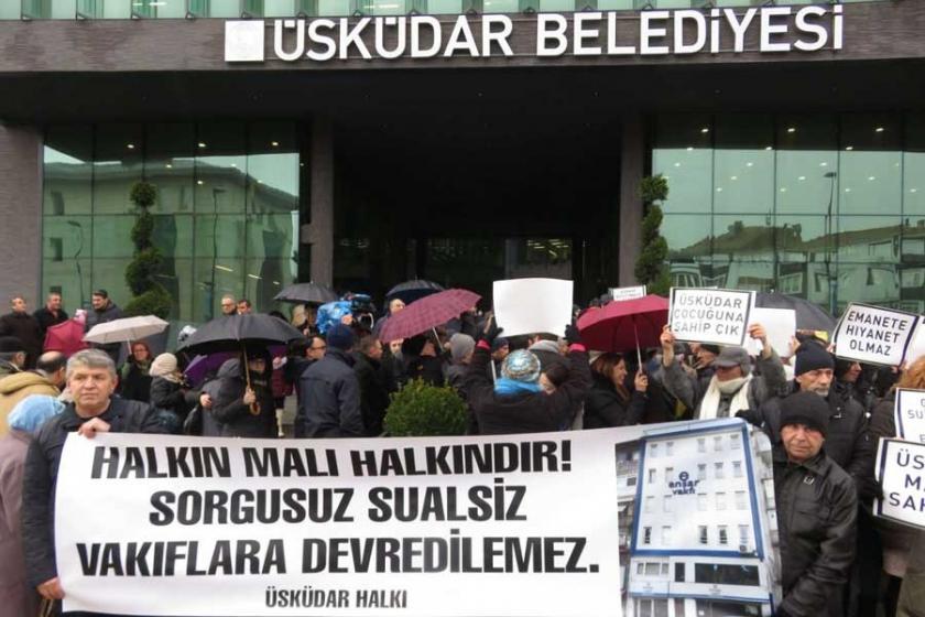 Üsküdar'da Ensar ve TÜGVA'ya tahsisler protesto edildi
