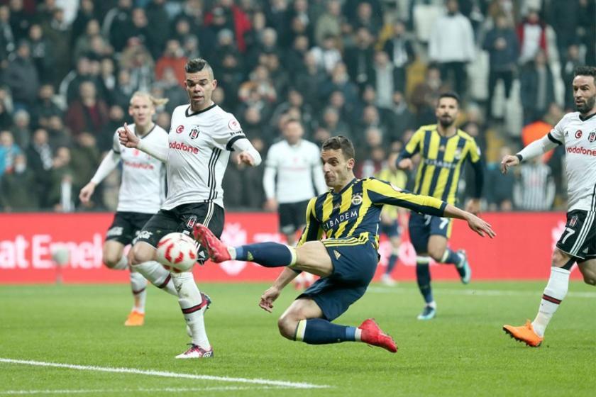 Derbide 3 kırmızı kart 4 gol: Beşiktaş 2-2 Fenerbahçe