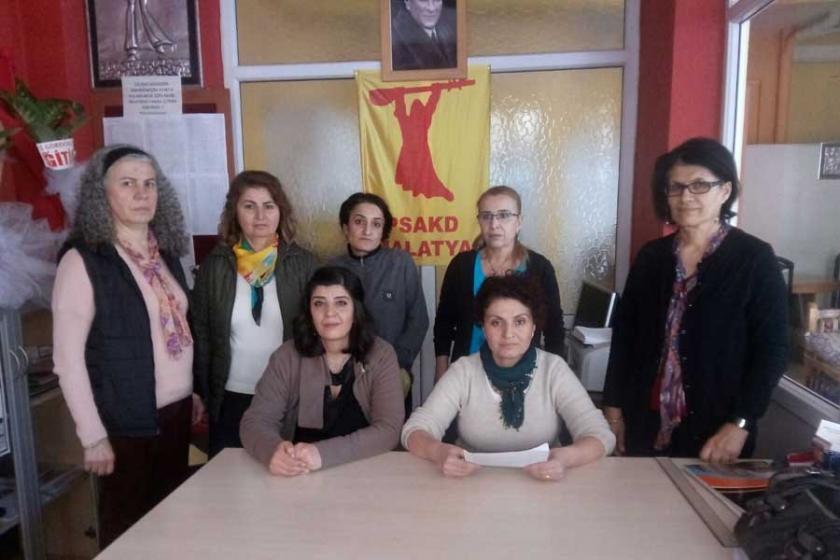 Malatya'da kadın cinayeti protesto edildi