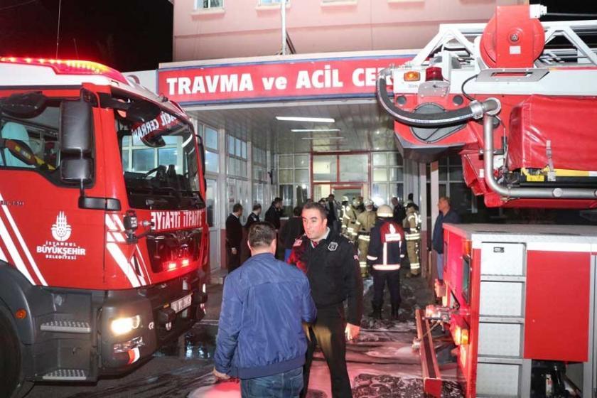 Çapa'daki İstanbul Tıp Fakültesi Hastanesi'nde yangın