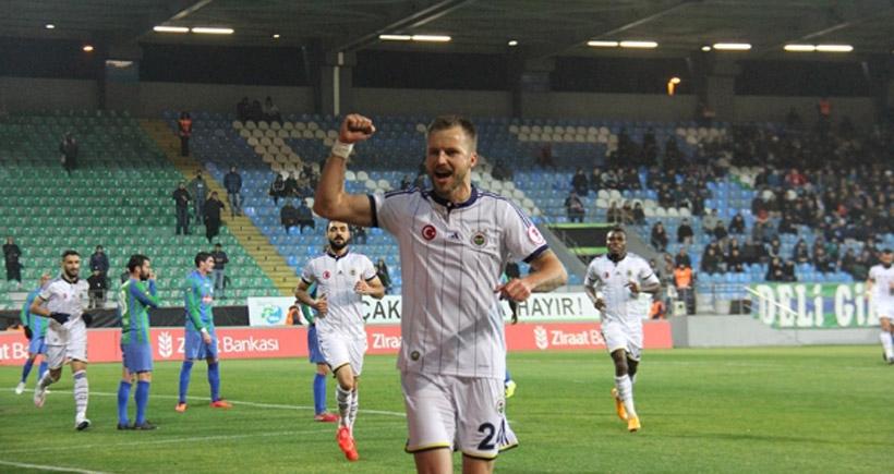 Fenerbahçe, Rize'den turu 4 golle aldı