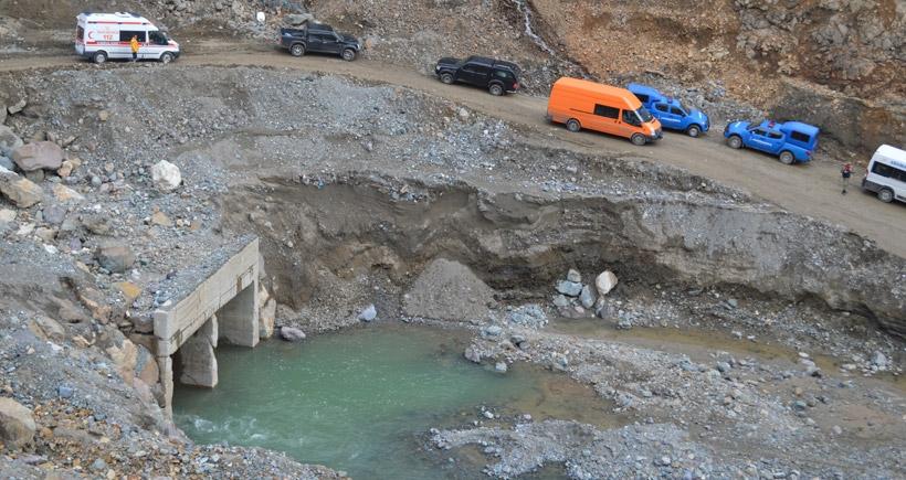 Kürtün Barajı'nda kaybolan operatöre ikinci gün de ulaşılamadı