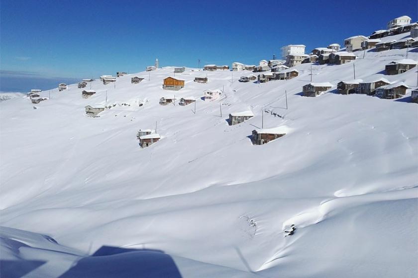 Kar nedeniyle yaylada mahsur kalanlar 3 gün sonra kurtarıldı